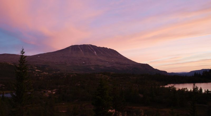 A sight to weary eyes, the Gaustadtoppen mountain. Photo by Halvor Mork