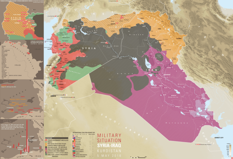 An Up To Date Map Detailing The Military Situation In Iraq, Syria ...